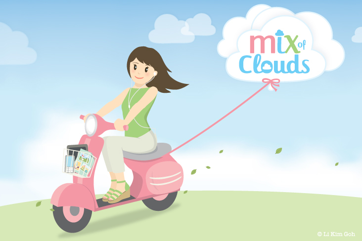 Scooter Girl Mix of Clouds